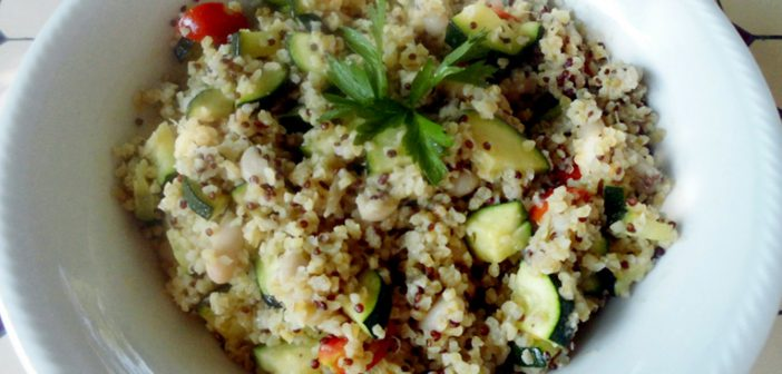 Bulgur & Quinoa con Zucchine e Cannellini