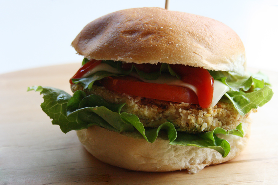 hamburger verdura ceci