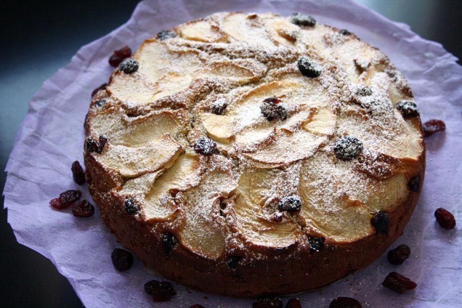 ricetta torta di mele e mirtilli-confoodential