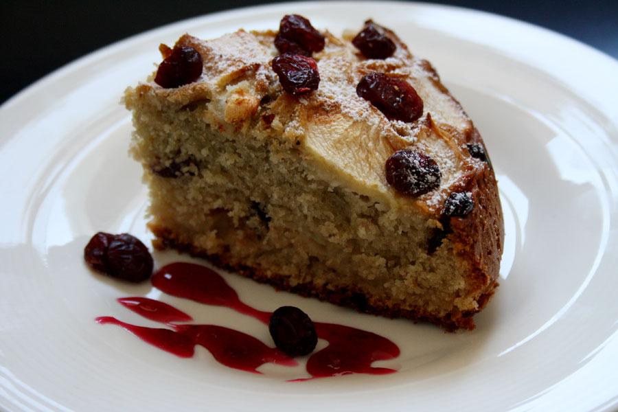 torta mele e mirtilli ripieno