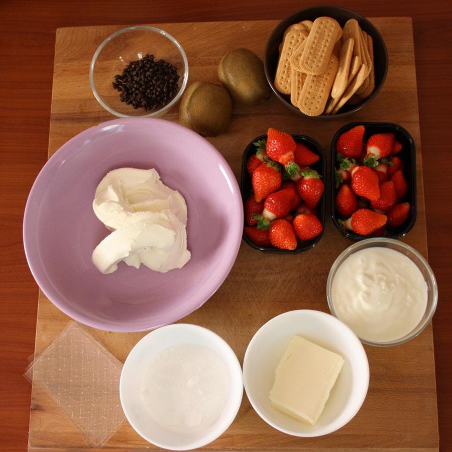 Ingredienti ricetta cheescake fredda