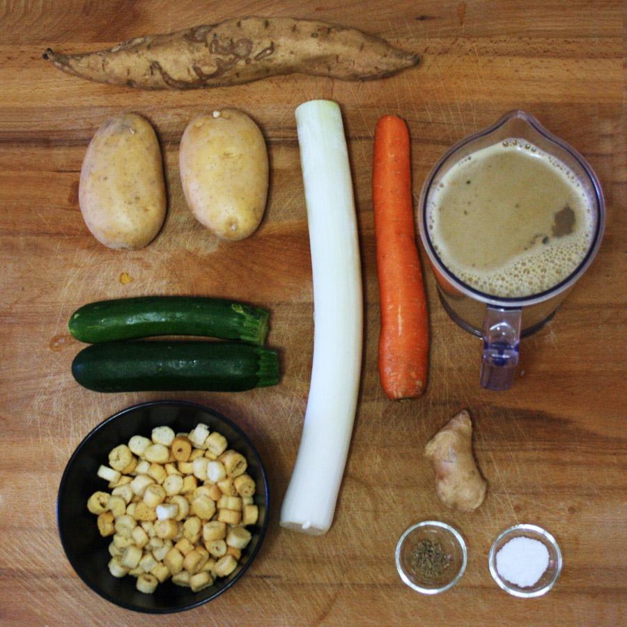 Ingredienti ricetta vellutata di patate dolci