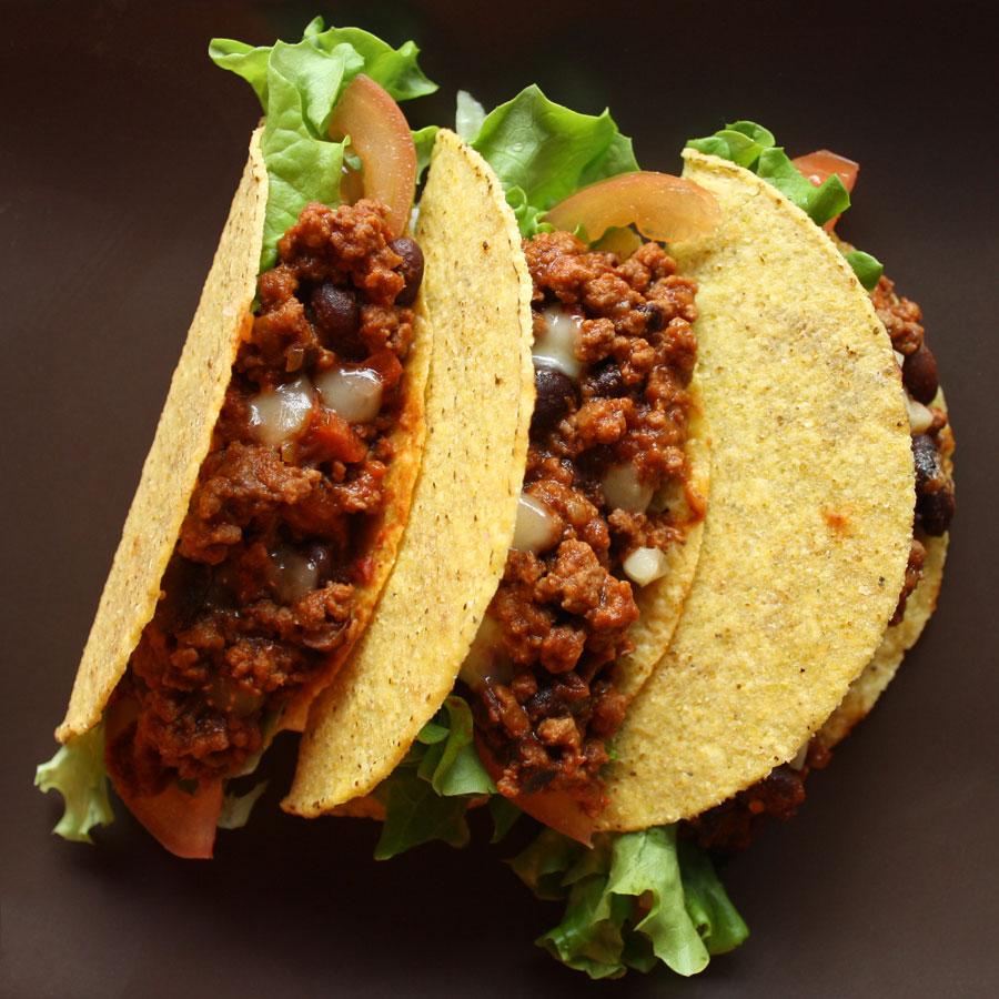 Ricetta tacos con chili di carne alla messicana