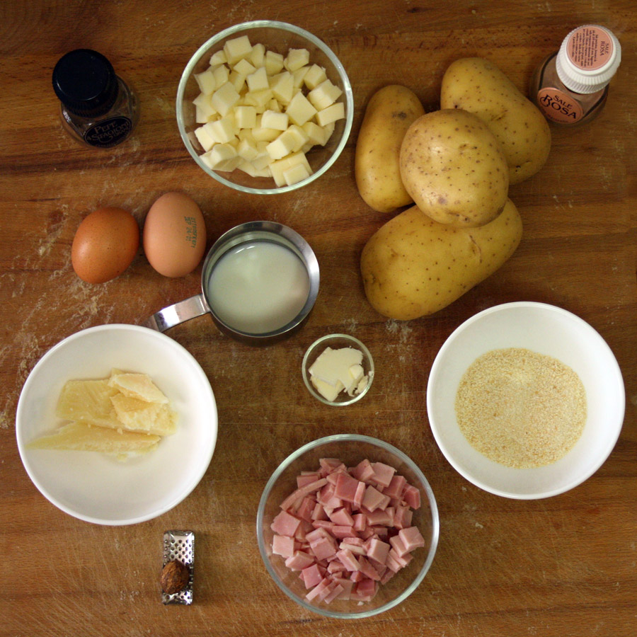 Ingredienti per la torta salata con patate