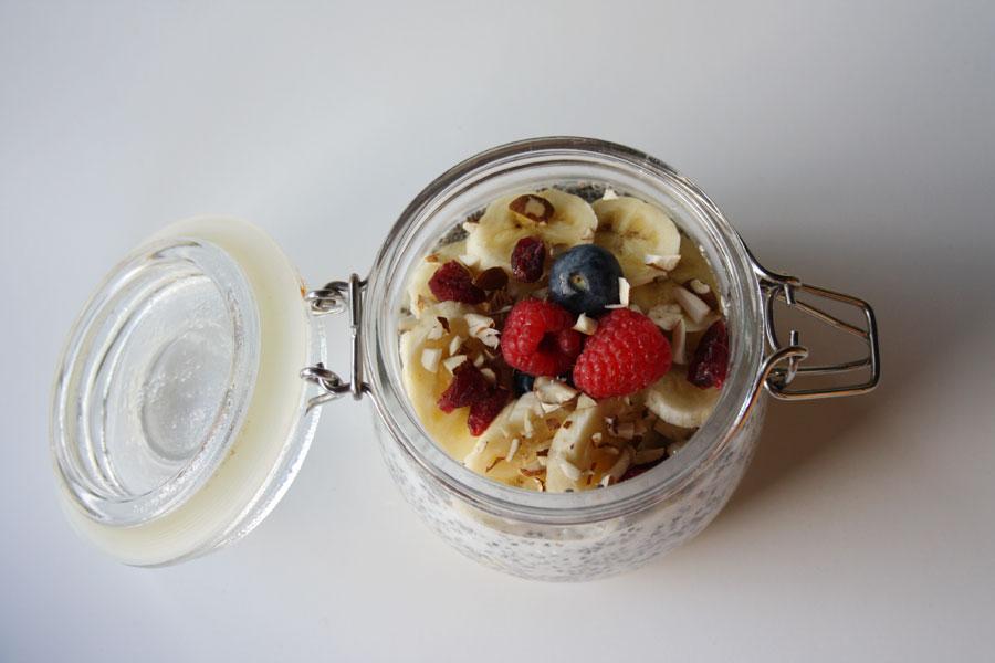 Porridge di avena e semi di chia