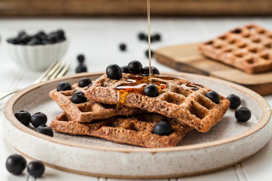 5 idee per una colazione sana: waffle con farina integrale