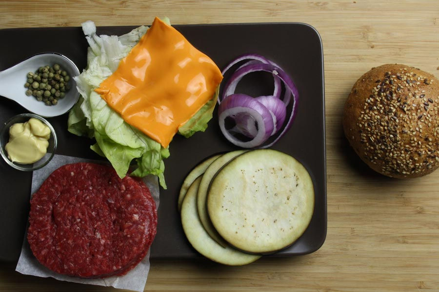 Ingredienti per l'hamburger gourmet (2 persone)