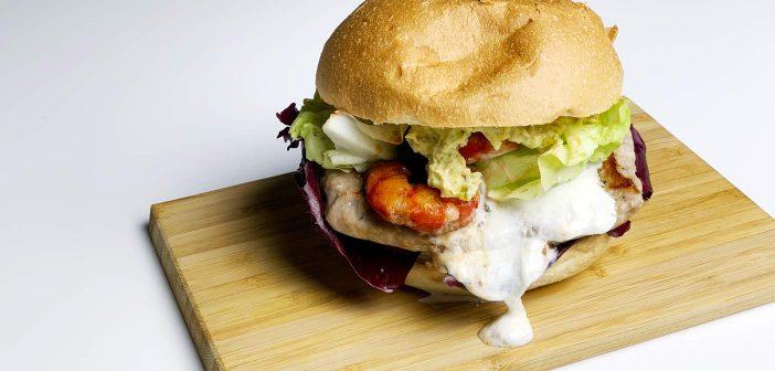 Hamburger di Pollo Gourmet con Gamberi, Burrata e Pistacchi! Irresistibile!