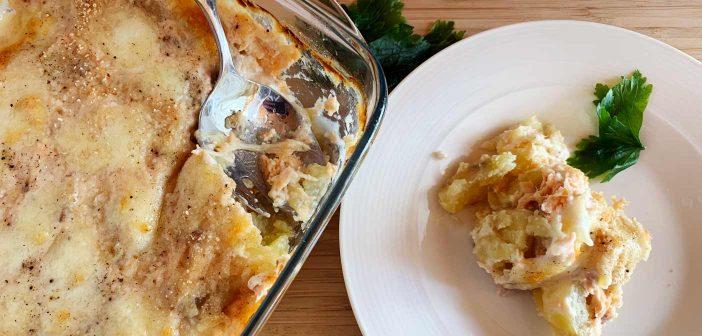 Sformato di salmone e patate