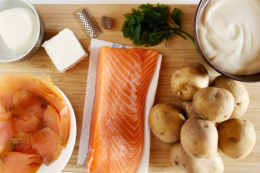 Sformato di salmone e patate ingredienti