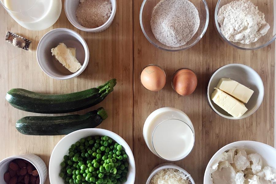 Creespelle di grano saraceno con verdure