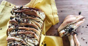 Antipasto facile e veloce: pan brioche salato farcito con formaggio cremoso