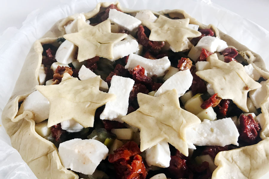 Torta salata cn melanzane