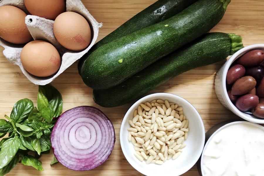 Frittata di zucchine ingredienti