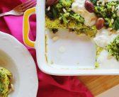 Frittata di zucchine con olive, cipolla di Tropea e squacquerone