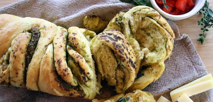 Pan brioche al pesto di basilico