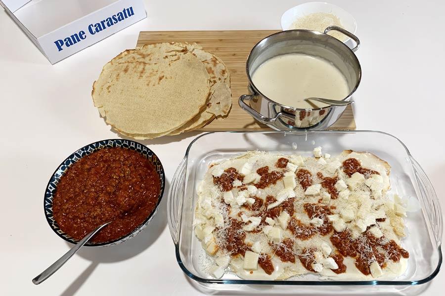 Lasagne con pane carasau