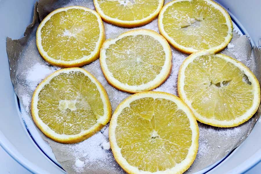 Torta rovesciata all'arancia